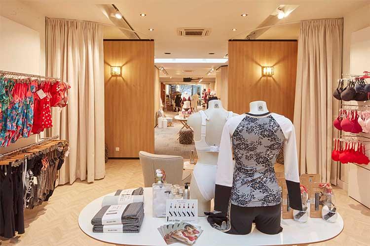 Sint-Niklaas interieur-lingerie-femina-winkelzicht