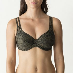 Prima Donna Swim Freedom bikinitop – niet voorgevormd Kaki snakeprint