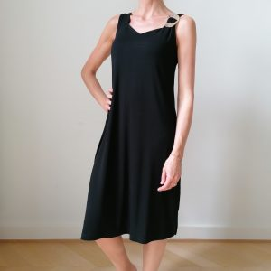 Vamp jurk Effen Zwart